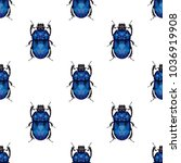 low poly stag beetle pattern.... | Shutterstock .eps vector #1036919908