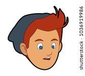 man face cartoon | Shutterstock .eps vector #1036919986