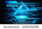 binary circuit board future... | Shutterstock .eps vector #1036922098