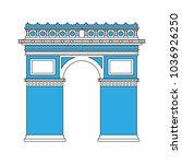 arch of triumph | Shutterstock .eps vector #1036926250