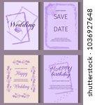 wedding invitation card suite...   Shutterstock .eps vector #1036927648