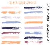 modern watercolor daubs set ... | Shutterstock .eps vector #1036928194