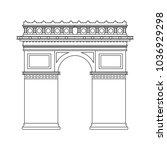 arch of triumph | Shutterstock .eps vector #1036929298