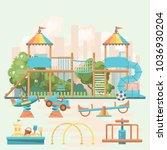 play ground vector... | Shutterstock .eps vector #1036930204