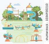 play ground vector... | Shutterstock .eps vector #1036930210