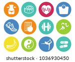 diet  fitness and health theme... | Shutterstock .eps vector #1036930450