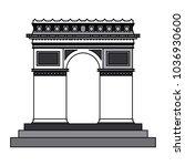 arch of triumph | Shutterstock .eps vector #1036930600