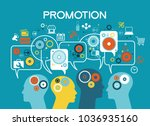 promotion design. set of flat... | Shutterstock .eps vector #1036935160