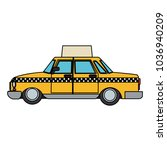 taxi cab vehicle | Shutterstock .eps vector #1036940209
