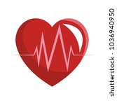 heartbeat medical symbol | Shutterstock .eps vector #1036940950