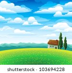 Green Summer Landscape With...