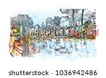 hadrian's villa is a large...   Shutterstock .eps vector #1036942486