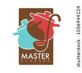 chef cooking school class... | Shutterstock .eps vector #1036944124