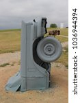 Small photo of ALLIANCE, NEBRASKA - JULY 2, 2016 - Carhenge is a replica of England's Stonehenge located near the city of Alliance, Nebraska, in the High Plains region of the United States.