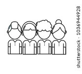 line people with hairstyle... | Shutterstock .eps vector #1036944928
