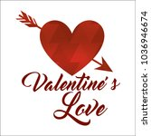 red abstract love arrow happy... | Shutterstock .eps vector #1036946674