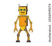 funny robot cartoon | Shutterstock .eps vector #1036949074