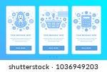 vertical banners flat thin line ... | Shutterstock .eps vector #1036949203