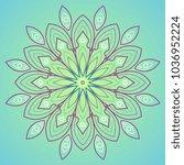 gradient vector mandala    Shutterstock .eps vector #1036952224
