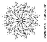 line art vector mandala   Shutterstock .eps vector #1036953604
