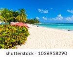 dover beach   tropical beach on ... | Shutterstock . vector #1036958290