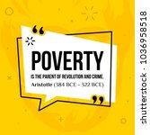 vector quotation. poverty is...   Shutterstock .eps vector #1036958518