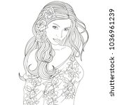 vector illustration  beautiful... | Shutterstock .eps vector #1036961239
