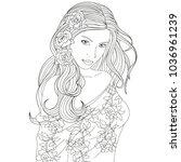 vector illustration  beautiful... | Shutterstock .eps vector #1036961239