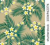 floral seamless pattern.... | Shutterstock .eps vector #1036962376