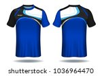 soccer jersey template.blue and ... | Shutterstock .eps vector #1036964470