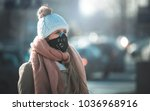 young woman wearing protective... | Shutterstock . vector #1036968916
