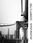 Small photo of New York City, USA, Brooklyn Bridge with a view of the WTC