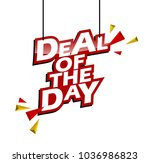 red and yellow tag deal of the... | Shutterstock .eps vector #1036986823