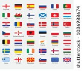 european flags vector | Shutterstock .eps vector #1036988674
