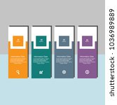 modern design info graphic... | Shutterstock .eps vector #1036989889