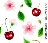 seamless pattern with ripe... | Shutterstock .eps vector #1036991470