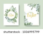 Happy Easter Vector Cards With...