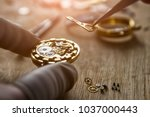 process of installing a part on ... | Shutterstock . vector #1037000443