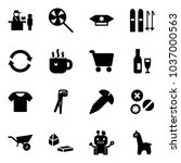 solid vector icon set  ... | Shutterstock .eps vector #1037000563