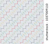 sashiko kimono pattern.... | Shutterstock .eps vector #1037009110