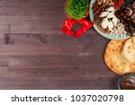 traditional azerbaijan sweet... | Shutterstock . vector #1037020798