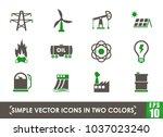 power generation simple vector... | Shutterstock .eps vector #1037023240