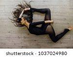 beautiful young model ballet... | Shutterstock . vector #1037024980