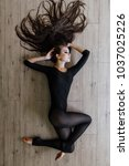 beautiful young model ballet... | Shutterstock . vector #1037025226