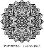mandala pattern black and white ... | Shutterstock .eps vector #1037031514