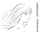 women line on white background   Shutterstock .eps vector #1037036854
