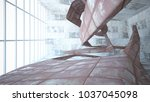 empty smooth abstract room...   Shutterstock . vector #1037045098