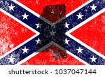 the flag of the confederates... | Shutterstock . vector #1037047144