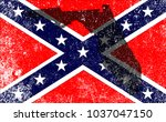 the flag of the confederates... | Shutterstock . vector #1037047150