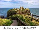dunnottar castle. an amazing...   Shutterstock . vector #1037047249